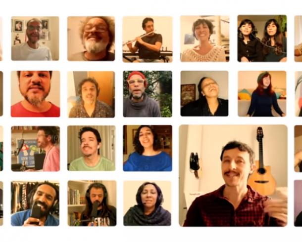 Música de Marco Vilane gravada coletivamente durante a quarentena com 29 vozes traz o calor e a ternura do abraço