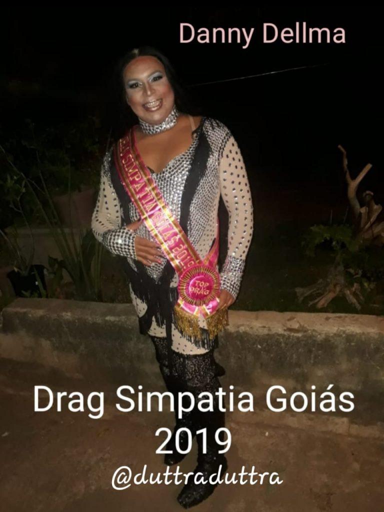 A artista drag queen Danny Dellma, como Drag Simpatia Goiás 2019