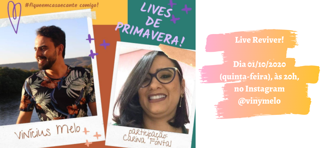 Projeto Lives de Primavera apresenta MPB nesta quinta-feira, 01/10