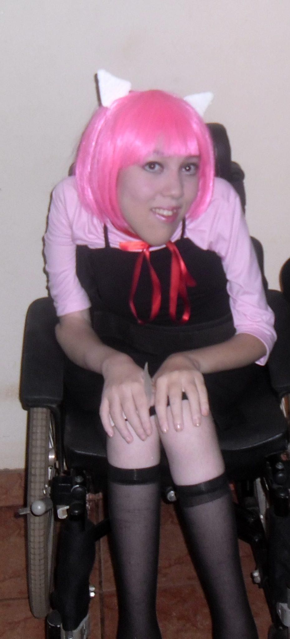 Graziela Maria com o cosplay de Lucy / Nyu de Elfen Lied
